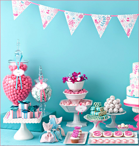 Pink Candy Buffet Table